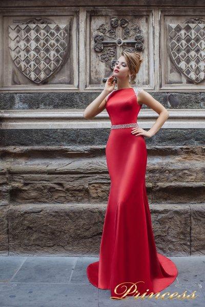 Вечернее платье 8014 (красный)