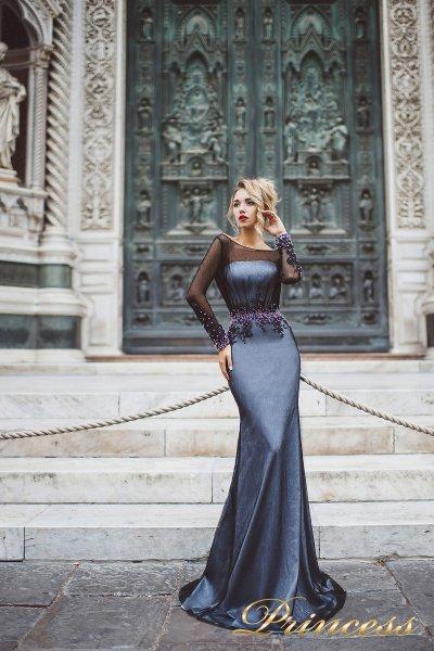 Вечернее платье 8021 (серебро)