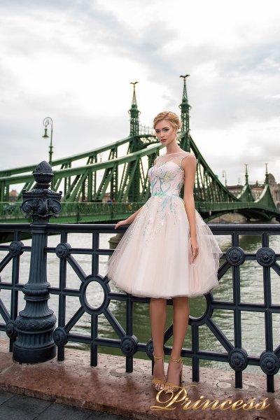 Вечернее платье 7045 (бежевый)