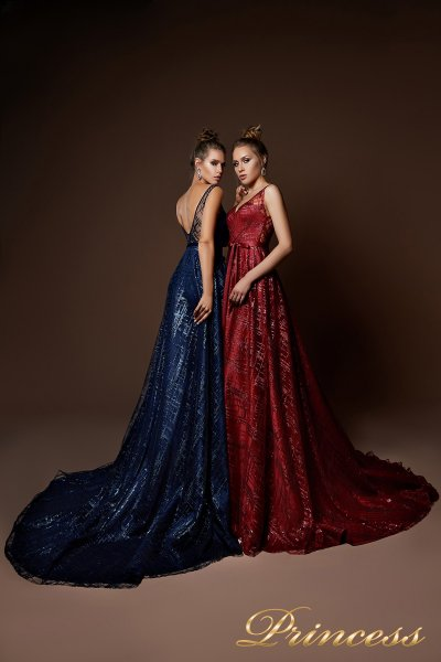 Вечернее платье 9064 (красный)