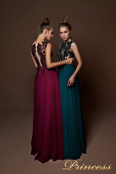 Вечернее платье 9070 (бордовый)
