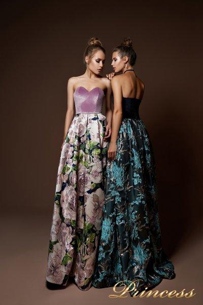 Вечернее платье 9074 (фиолетовый)