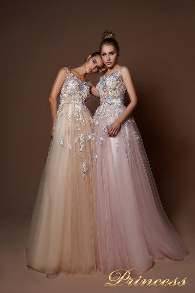 Вечернее платье 9082 (бежевый)
