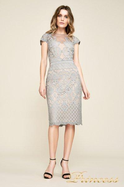 Вечернее платье AUA18795M pwtpl (стальной)