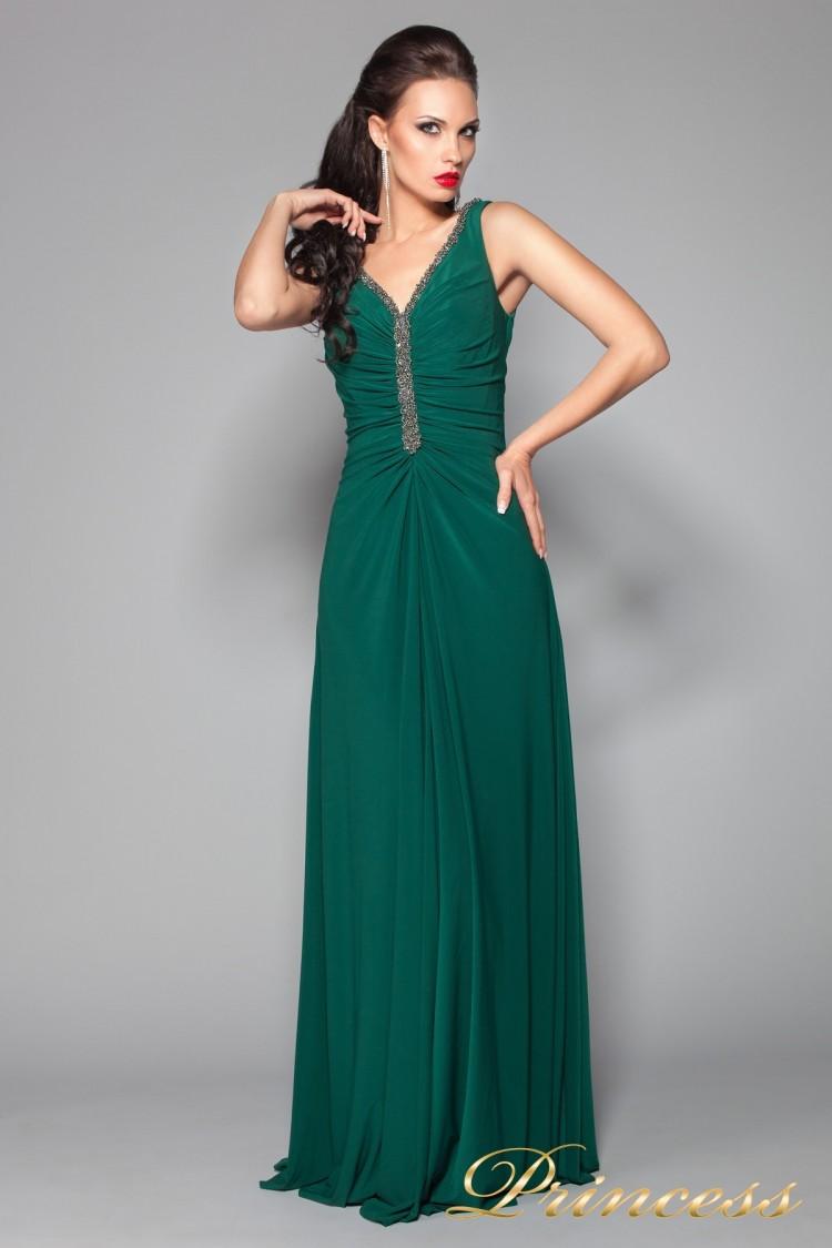 Вечернее платье 10058BG зеленого цвета