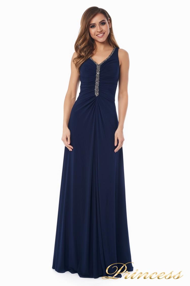 Вечернее платье №10058N синего цвета