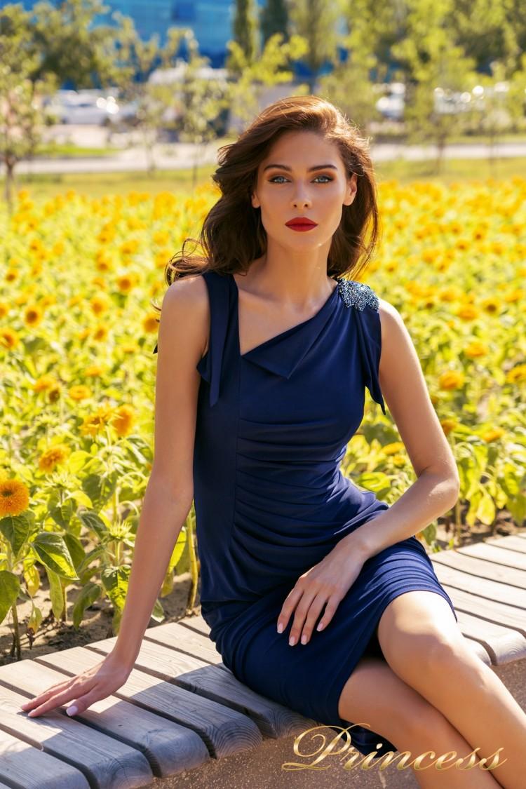 Коктейльное платье NF-1029 синий королевского цвета