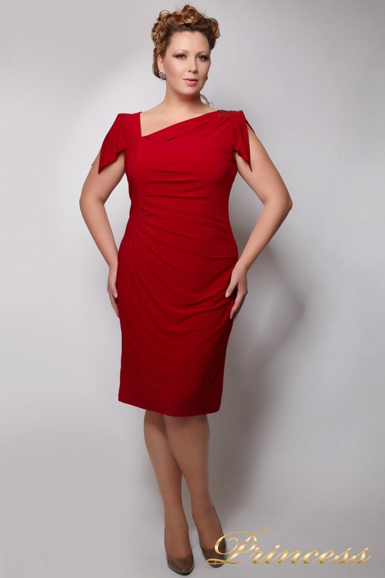 Вечернее платье 1029R красного цвета