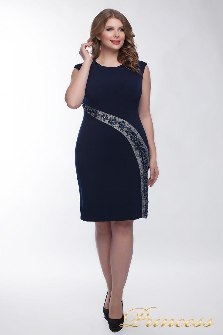 Коктейльное платье  1049_navy синего цвета