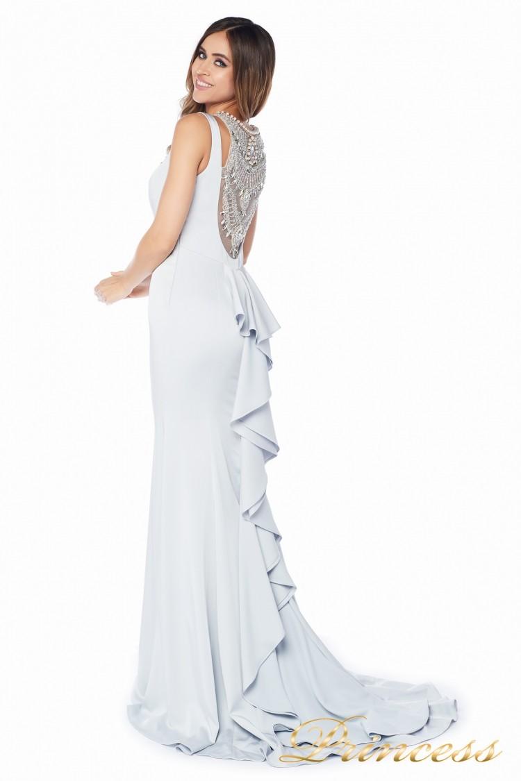 Вечернее платье 1051733 gray цвета шампань