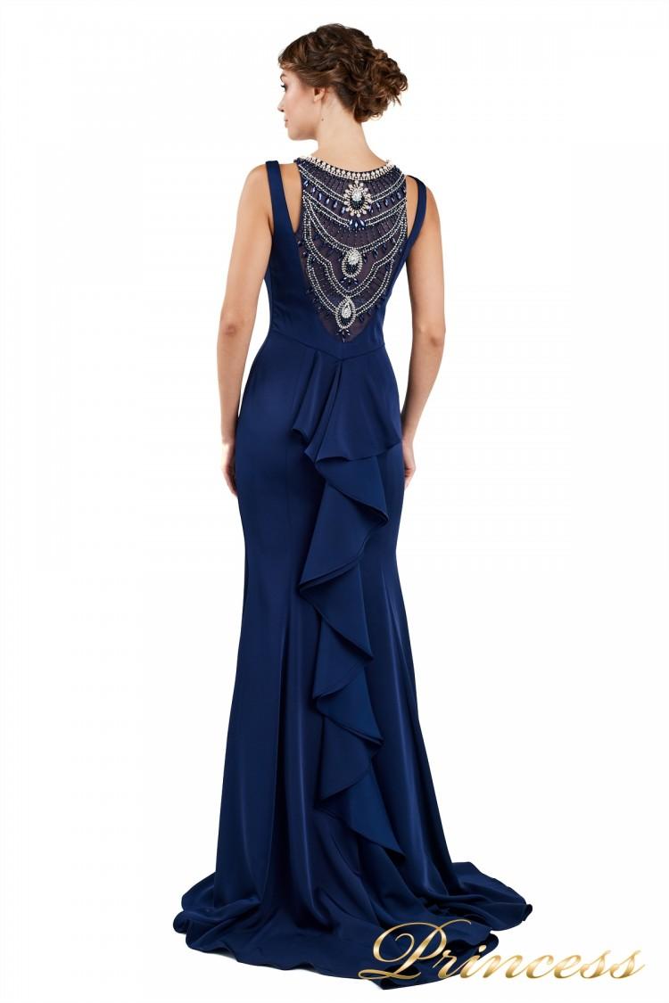 Вечернее платье 1051733 blue синего цвета