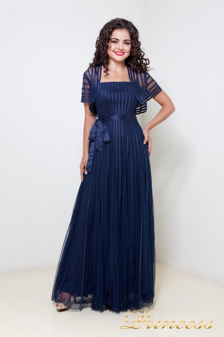 Вечернее платье 1073 синего цвета
