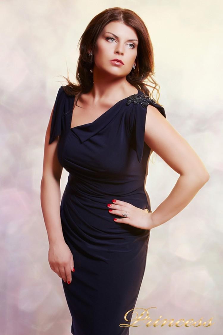 Вечернее платье 1029 M синего цвета