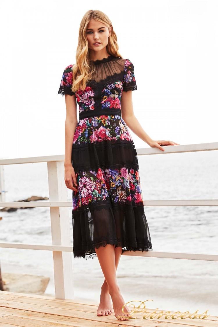#BDD17173M black floral print