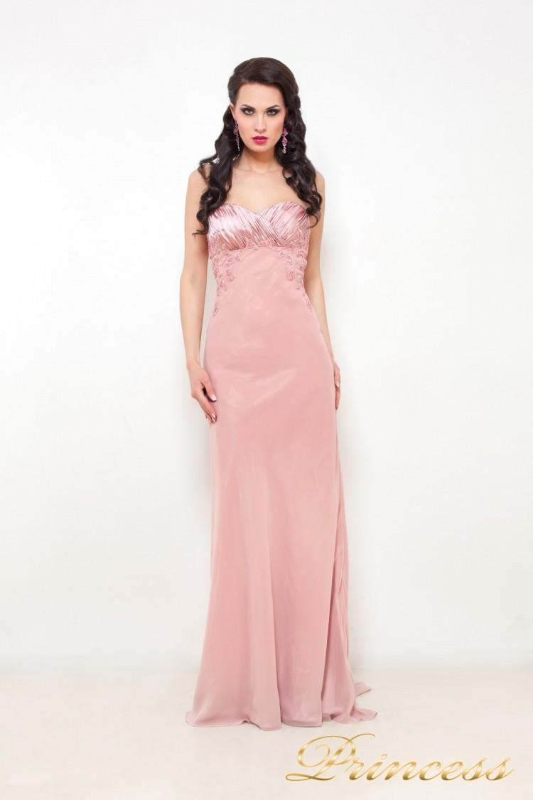 Вечернее платье 110916 розового цвета