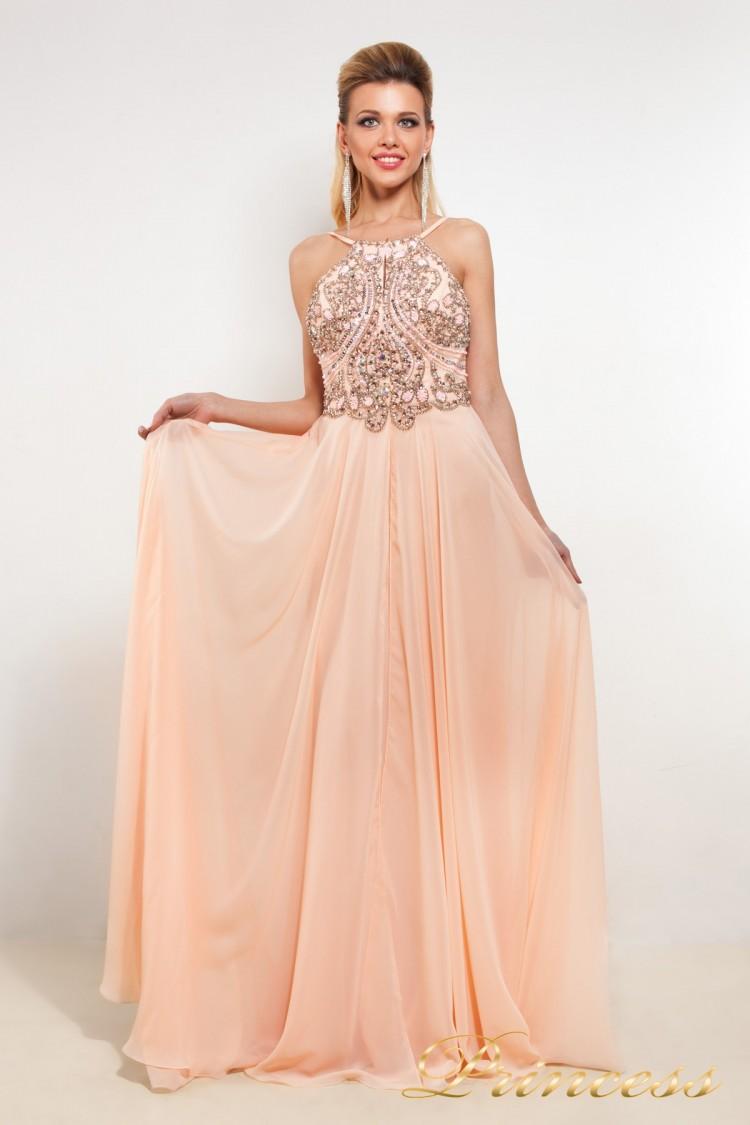 Вечернее патье 12014 R розового цвета
