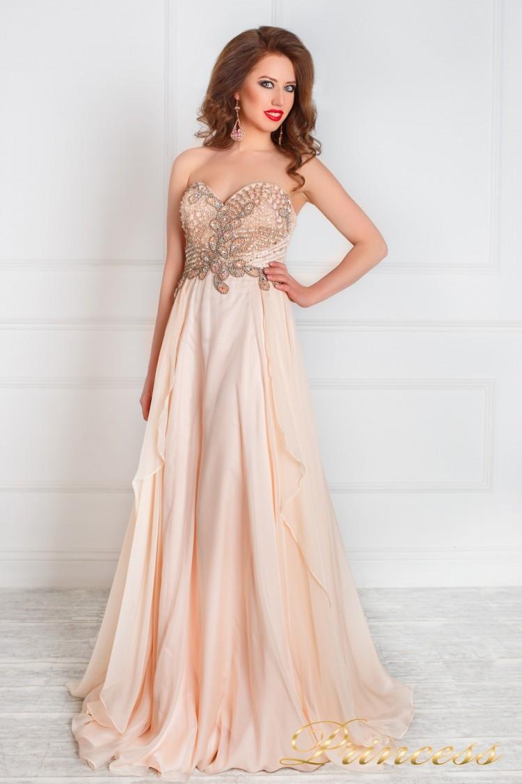 Вечернее платье 12018 розового цвета