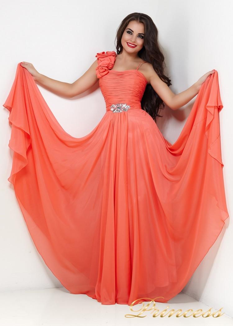 Вечернее платье 131Y кораллового цвета