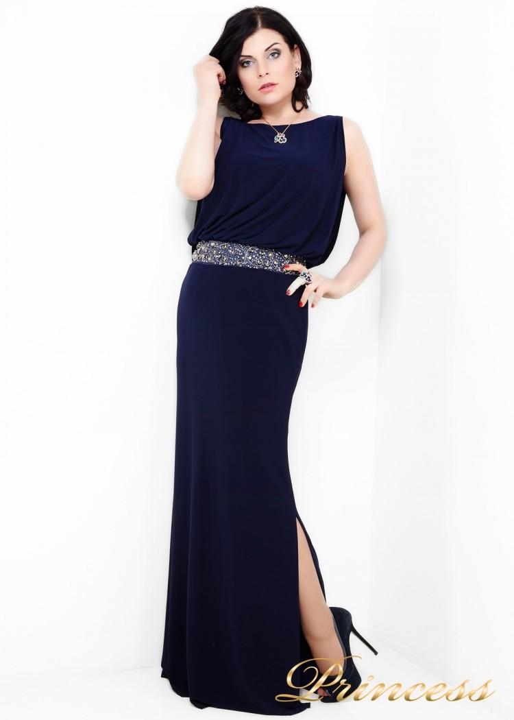 Вечернее платье 1144N синего цвета