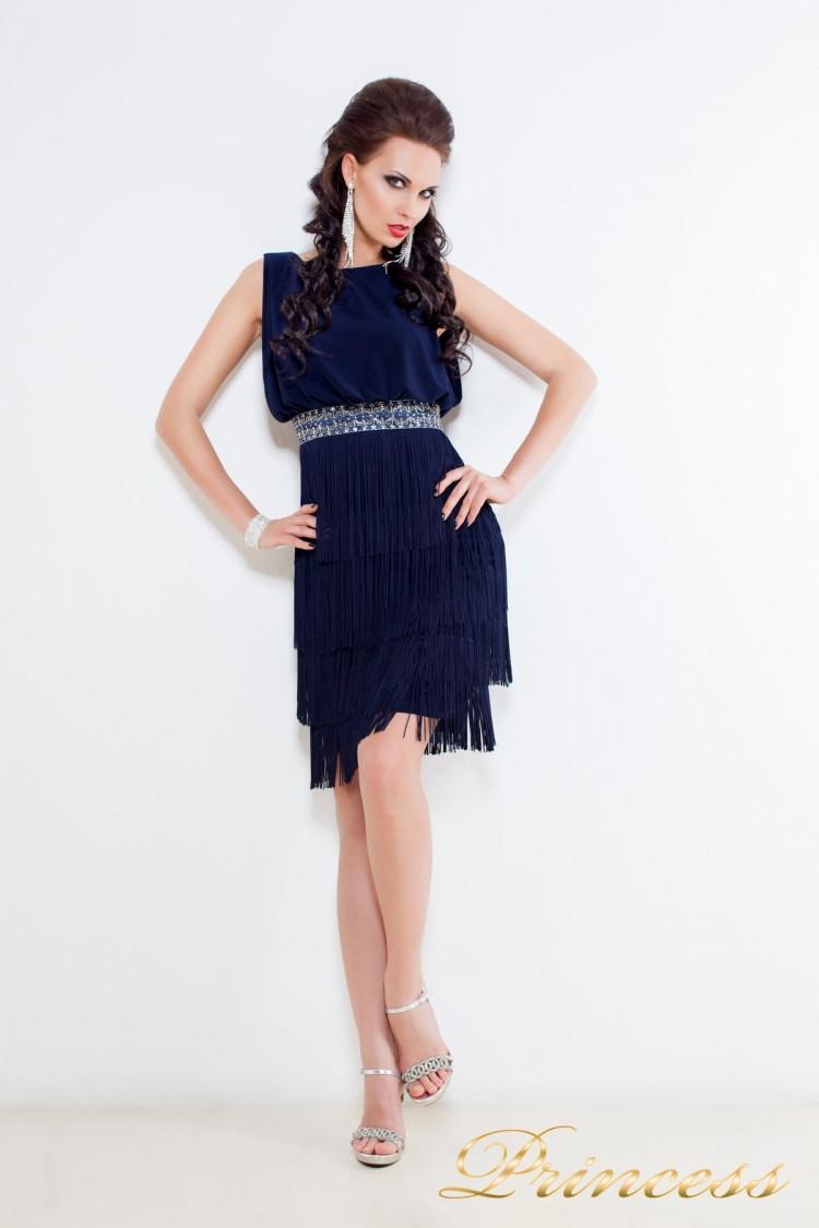 Коктейльное платье 1147 N синего цвета