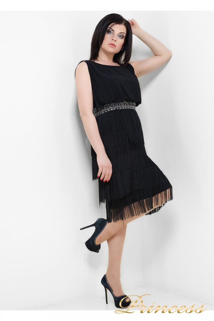 Коктейльное платье  1147 B чёрного цвета