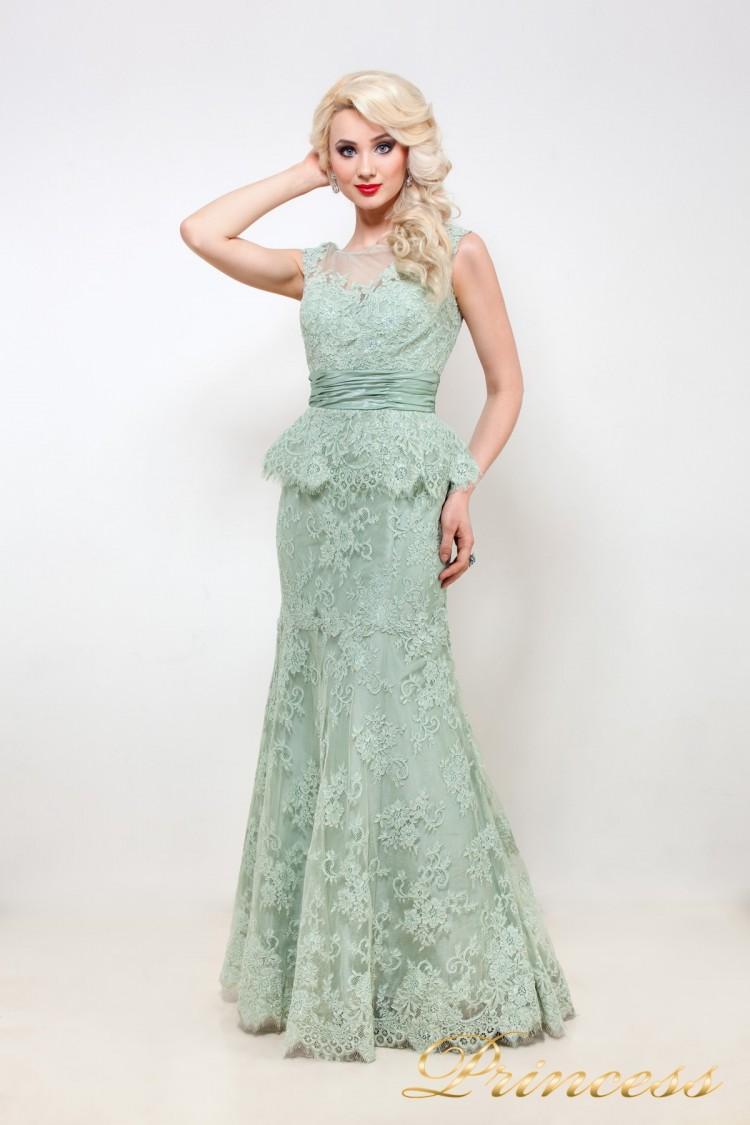 Вечернее платье 114D38 мятного цвета