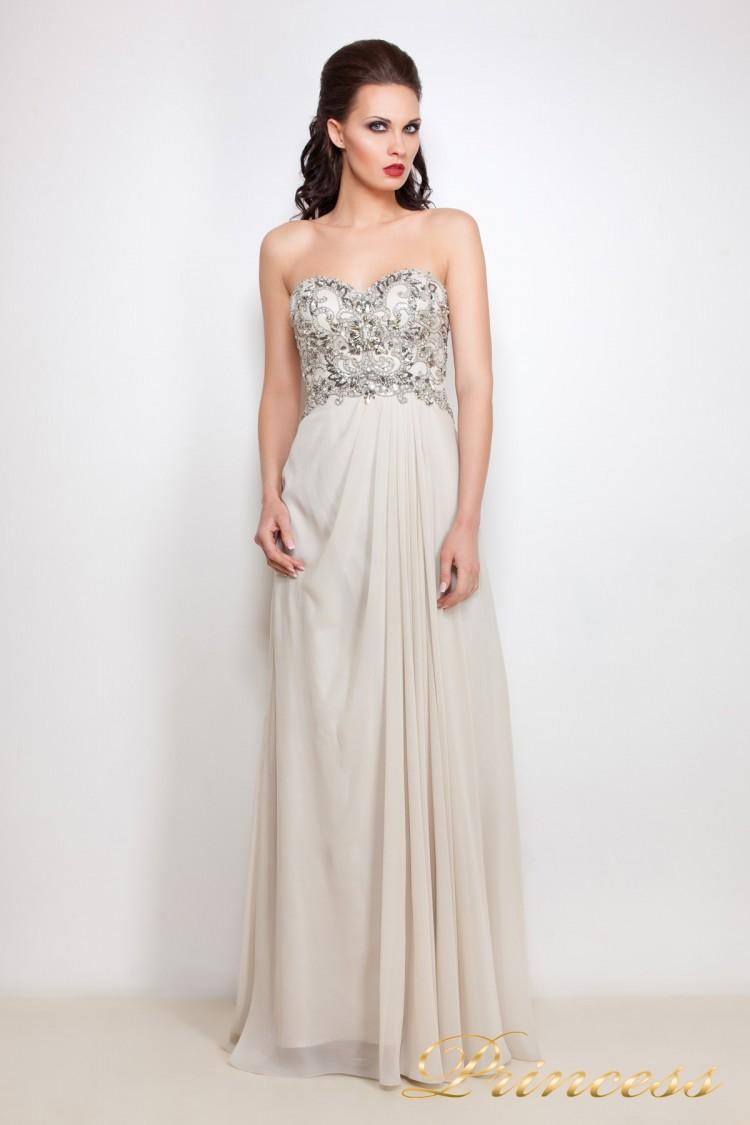 Вечернее платье 12004 серого цвета