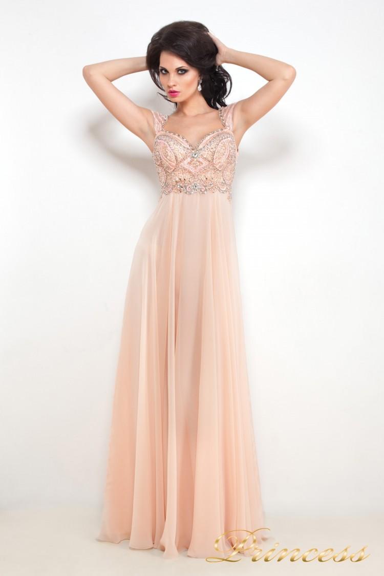Вечернее платье 12019 розового цвета