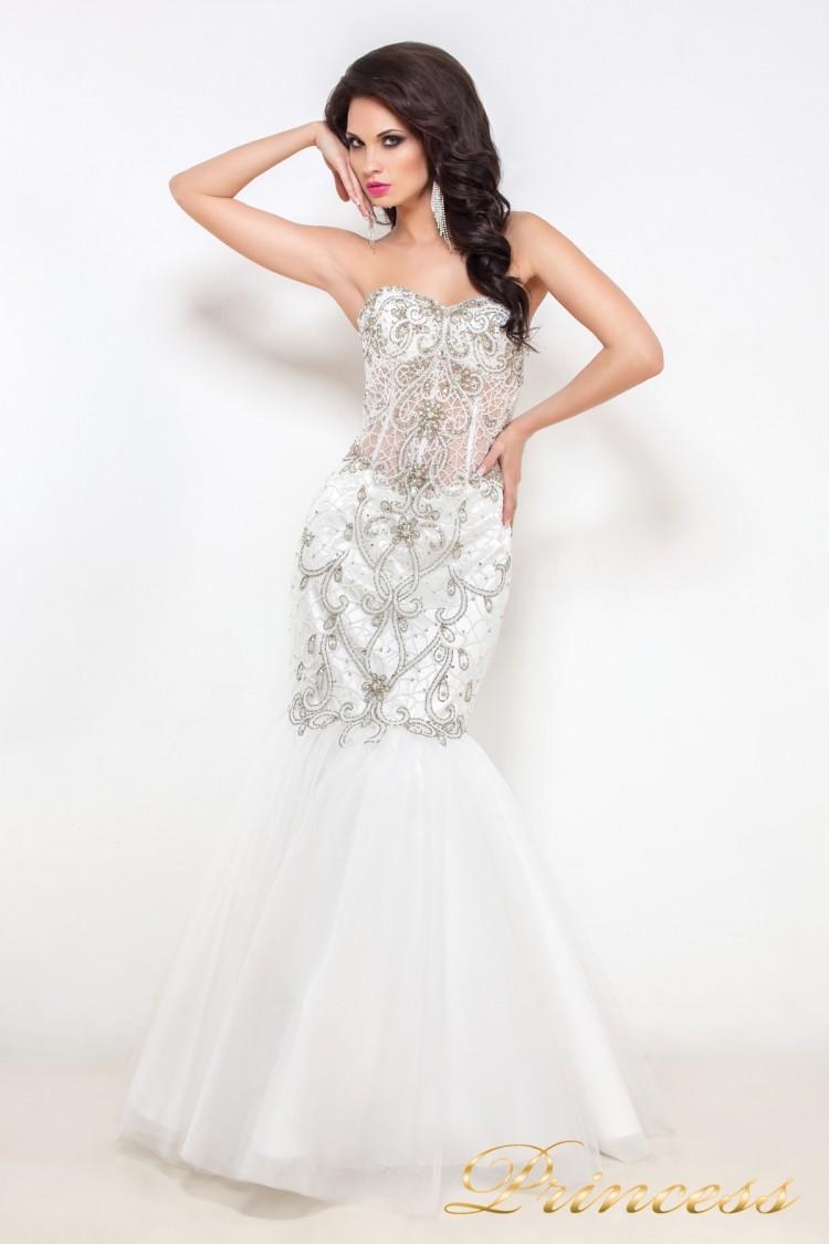 Свадебное платье 12021 белого цвета