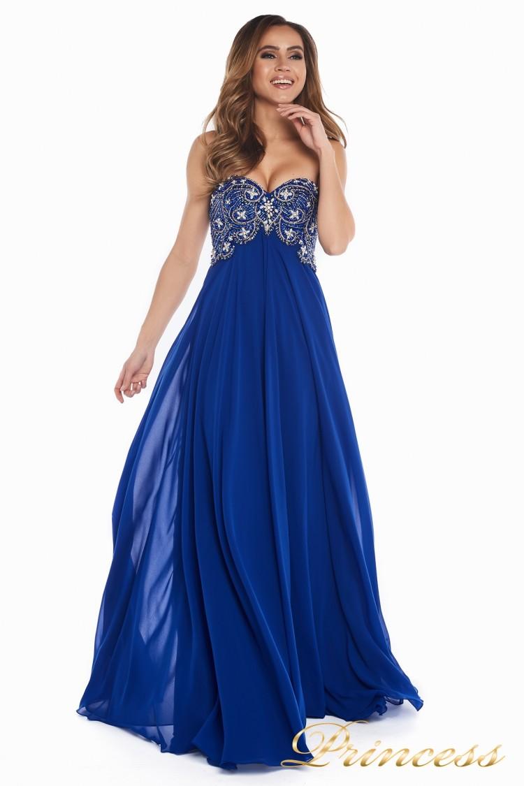 Вечернее платье 12024 цвета электрик