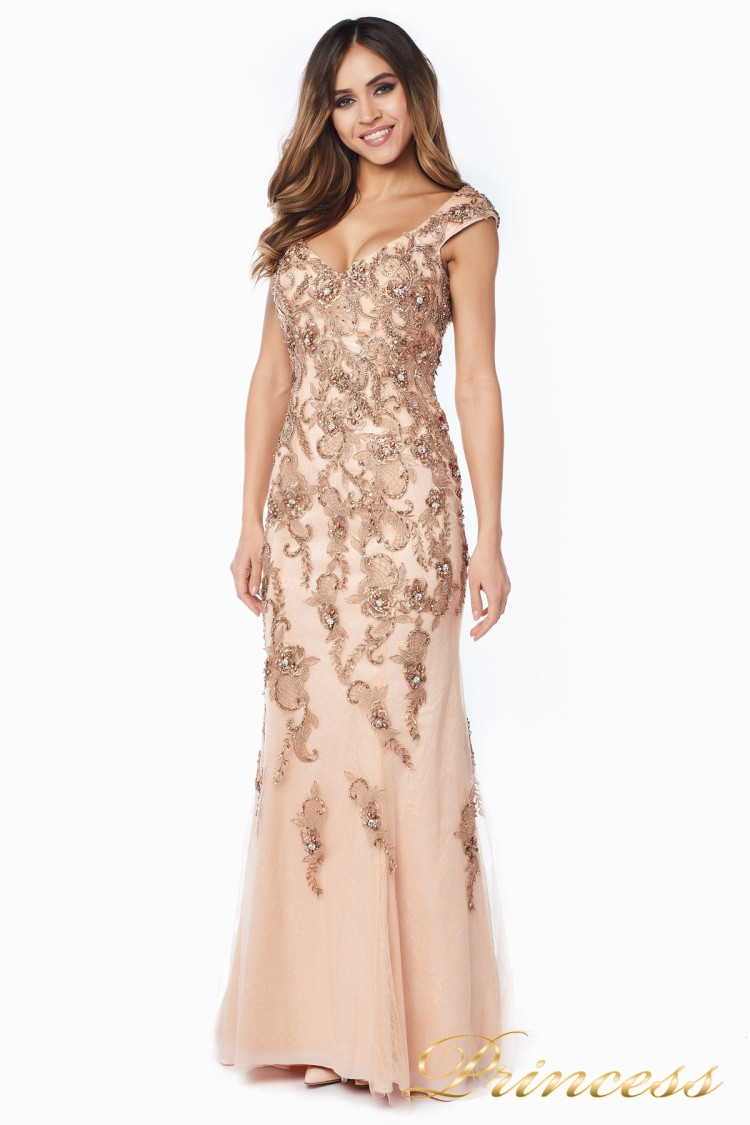 Вечернее платье 12036 розового цвета