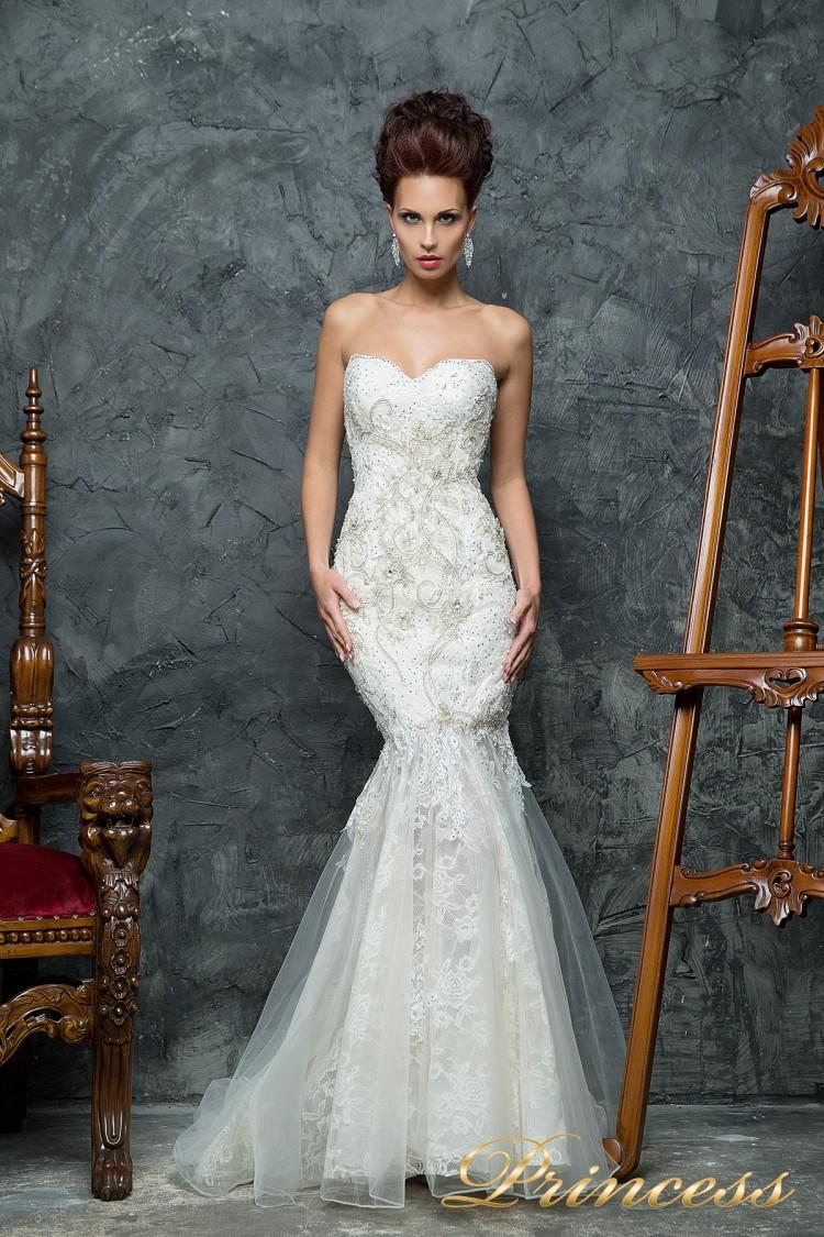 Свадебное платье 12043 белого цвета