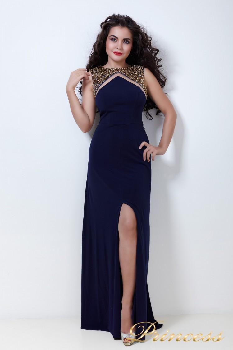 Вчернее платье 204N синего цвета