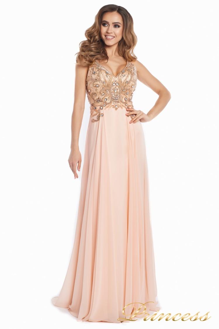 Вечернее платье 12068 розового цвета