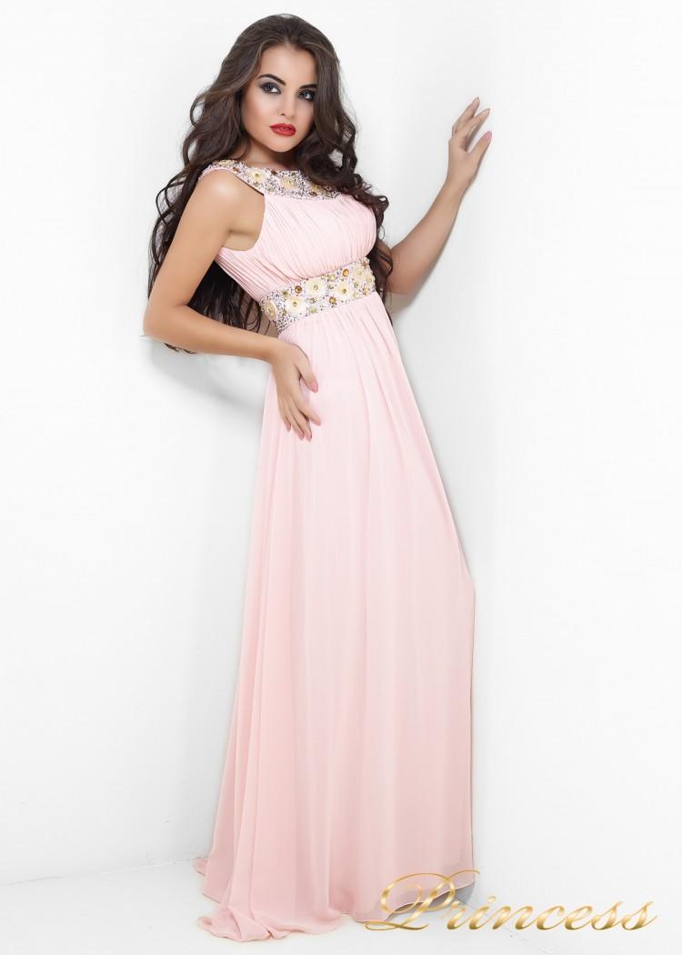 Вечернее платье 206P розового цвета