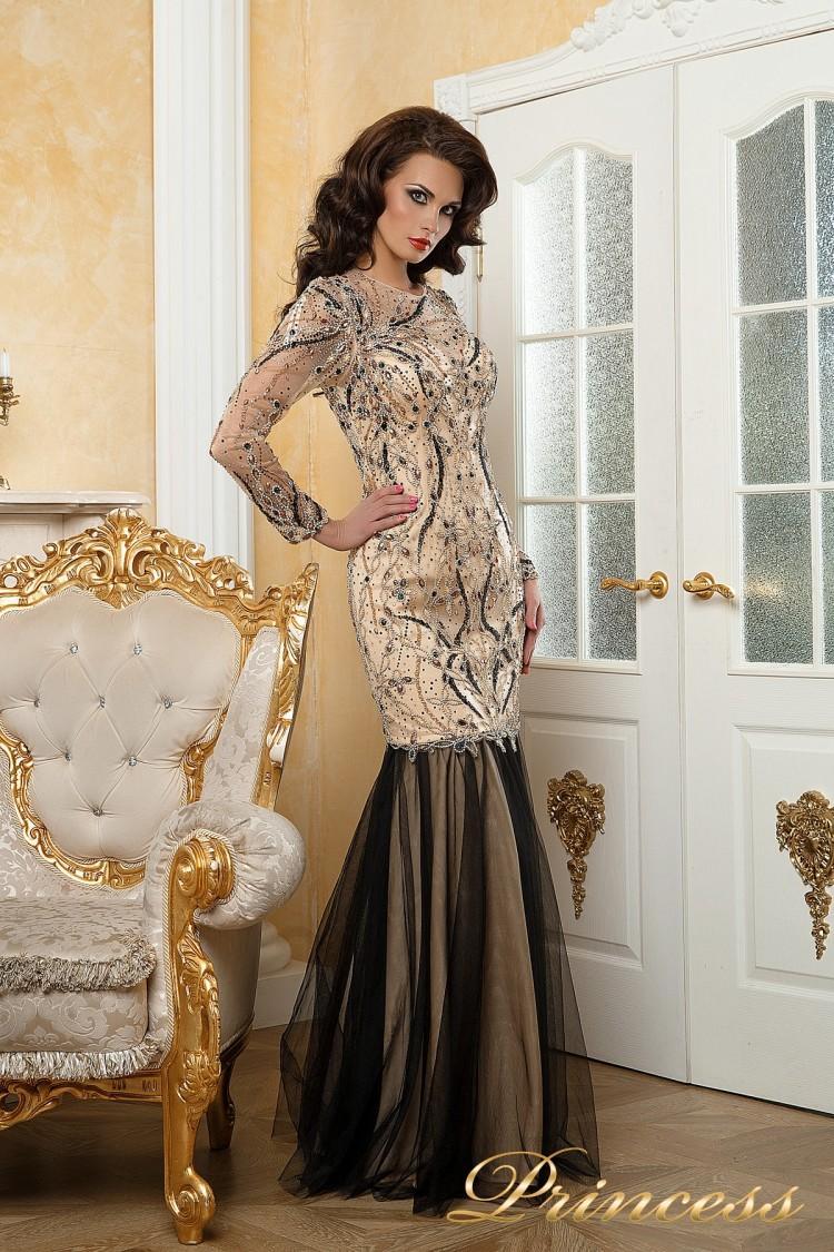 Вечернее платье 12076 цветочного цвета