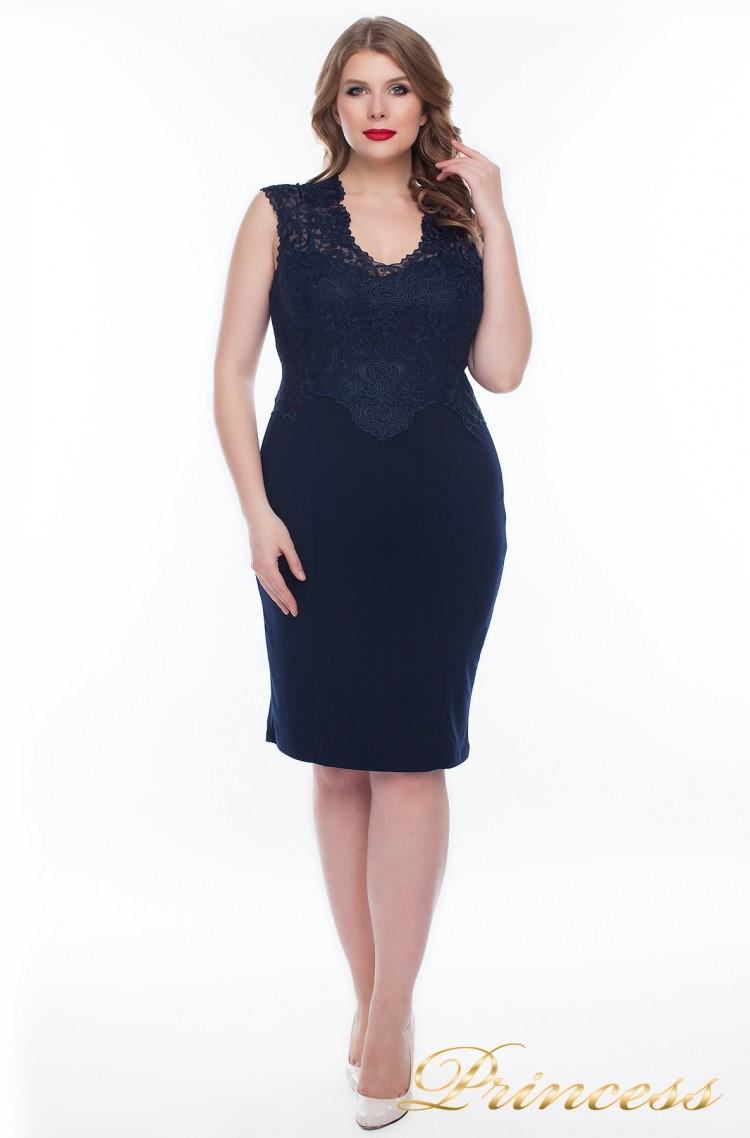 Вечернее платье 1207_navy синего цвета