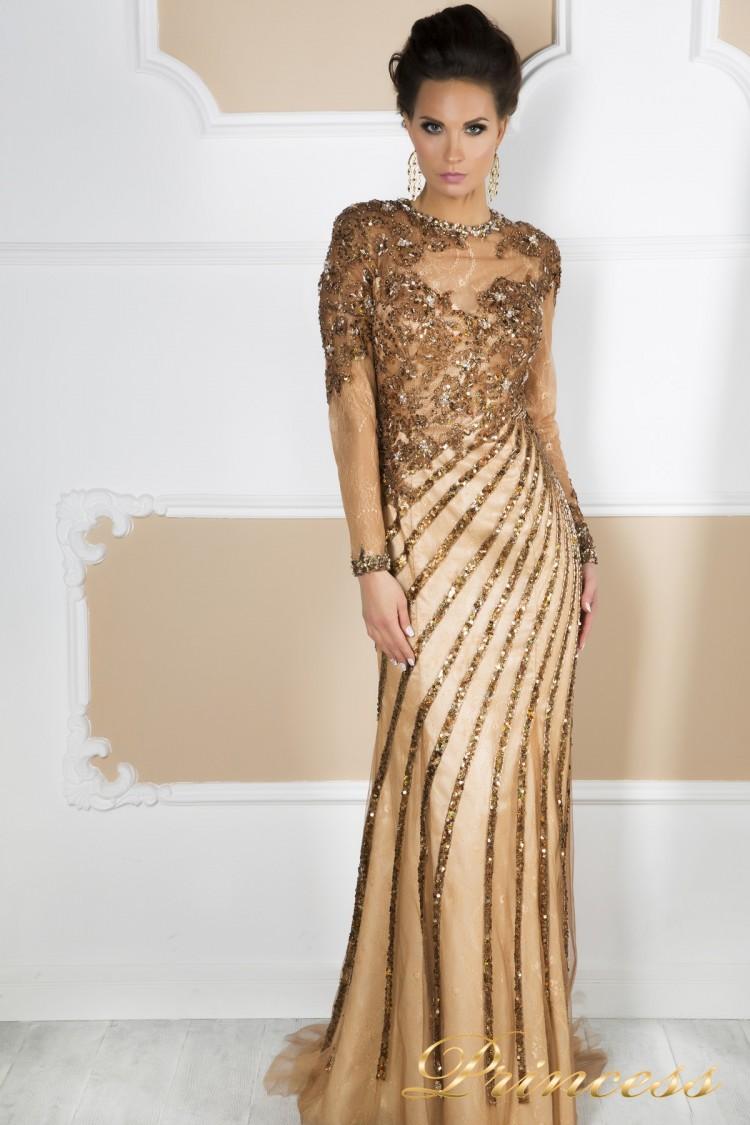 Вечернее платье 12081 пастельного цвета