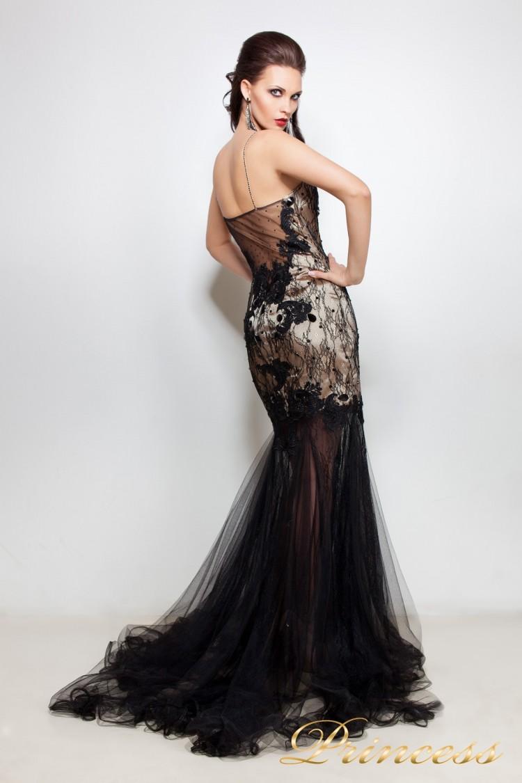 0b4fb0f1a60 Купить вечернее платье 12101406 чёрного цвета по цене 20500 руб. в ...