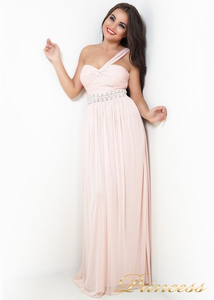 Вечернее платье 224P розового цвета