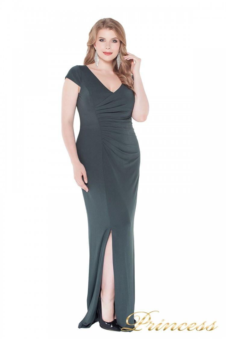 Вечернее платье 1235 dark green серого цвета