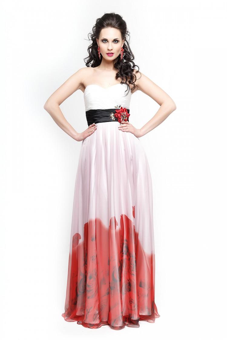 Вечернее платье 1285 красного цвета