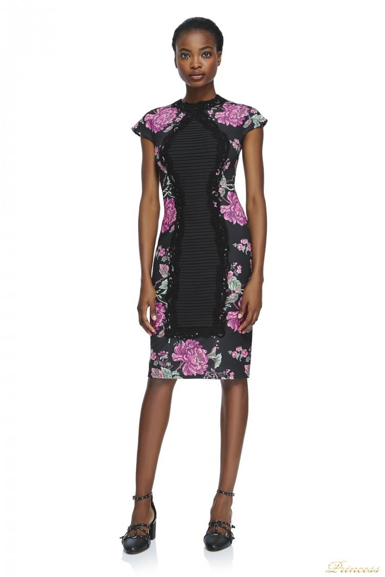 Вечернее платье Tadashi Shoji BAW1293M BLACK фуксого цвета