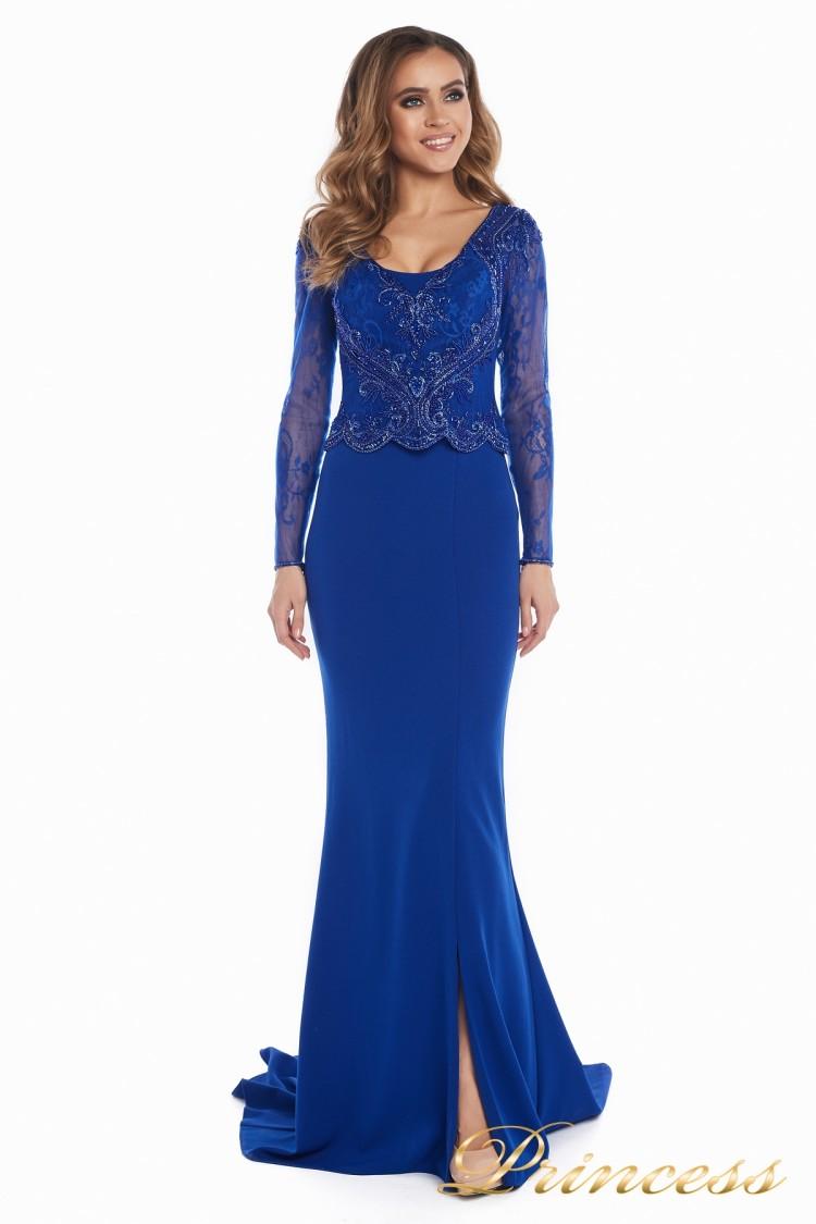 вечернее платье 3200 Royal цвета электрик