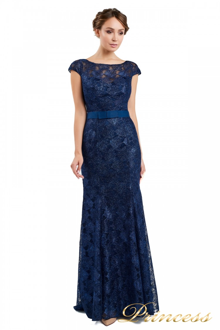 Вечернее платье 13710 blue синего цвета