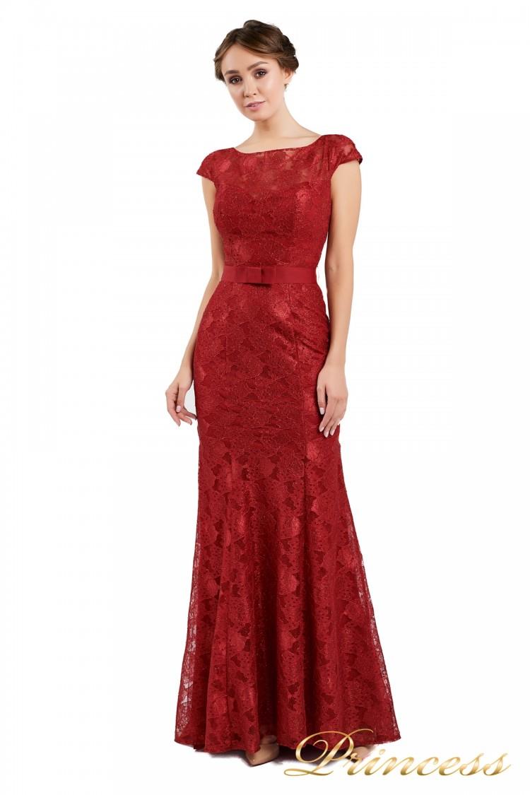 Вечернее платье 13710 wine красного цвета