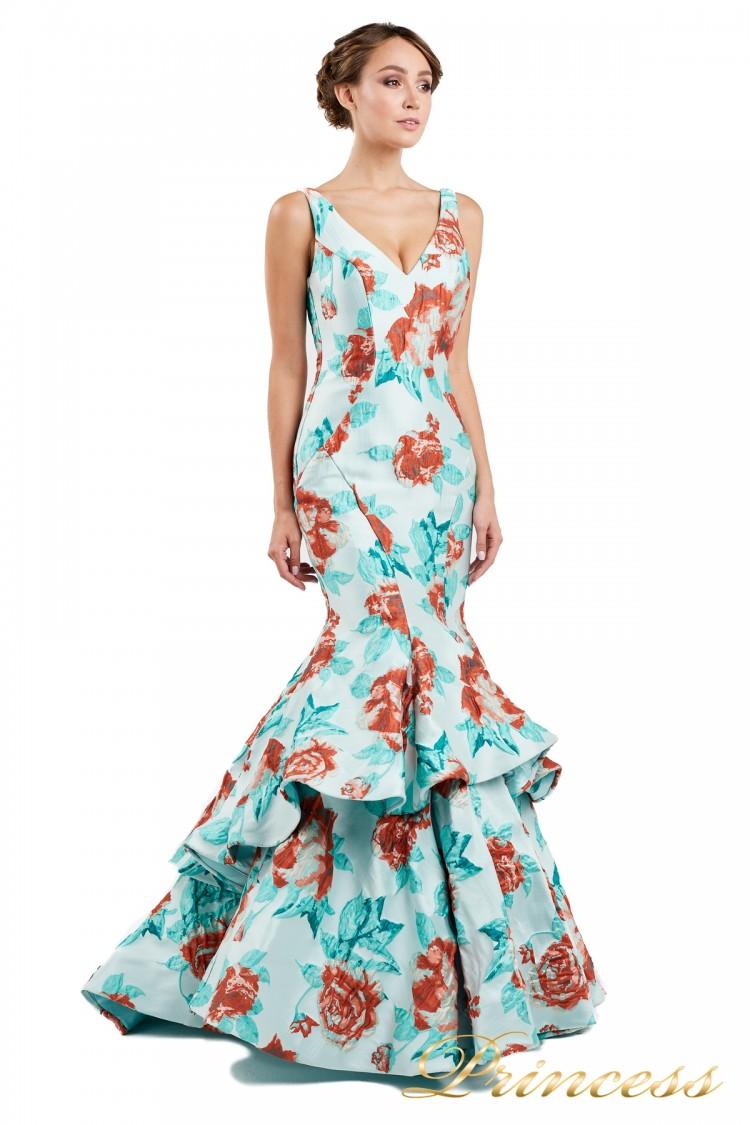 Вечернее платье 13895  мятного цвета