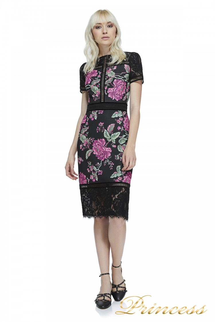 Вечернее платье Tadashi shoji BAW17712M BLACK чёрного цвета
