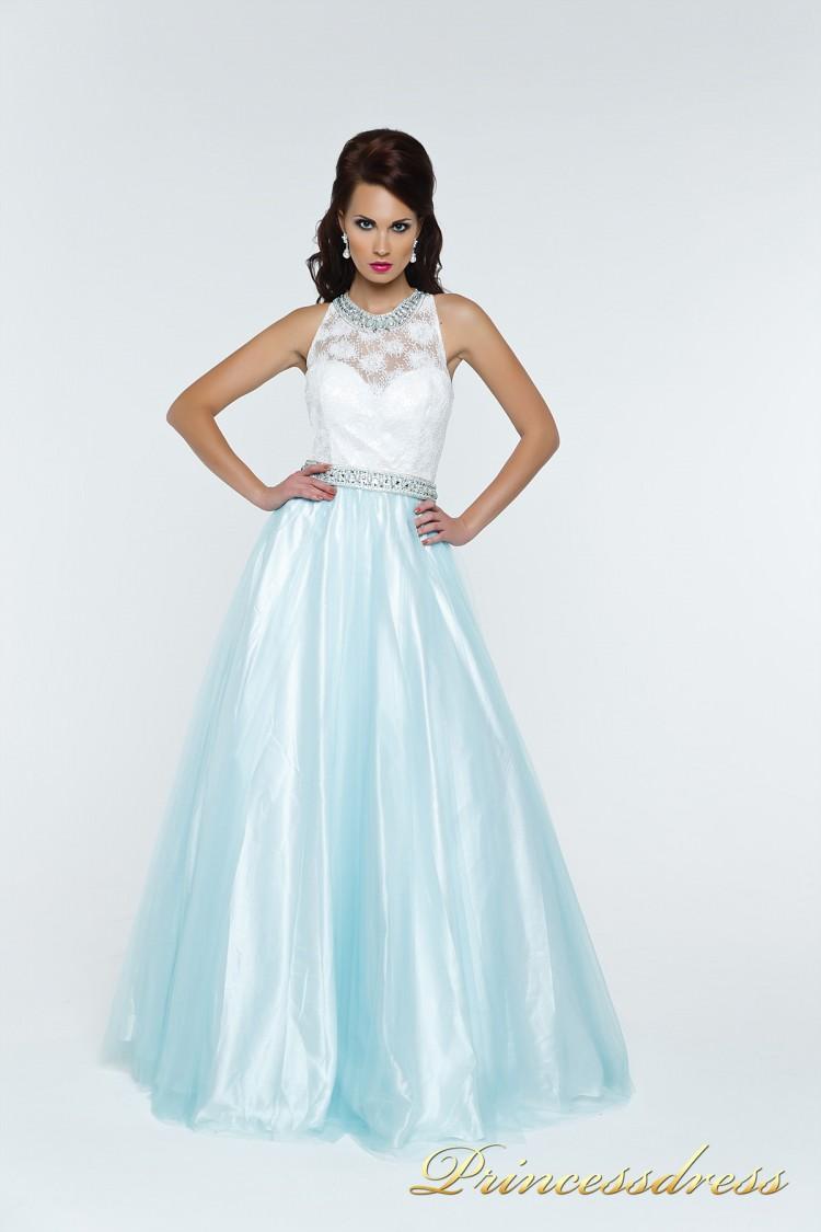 Вечернее платье 140344T мятного цвета