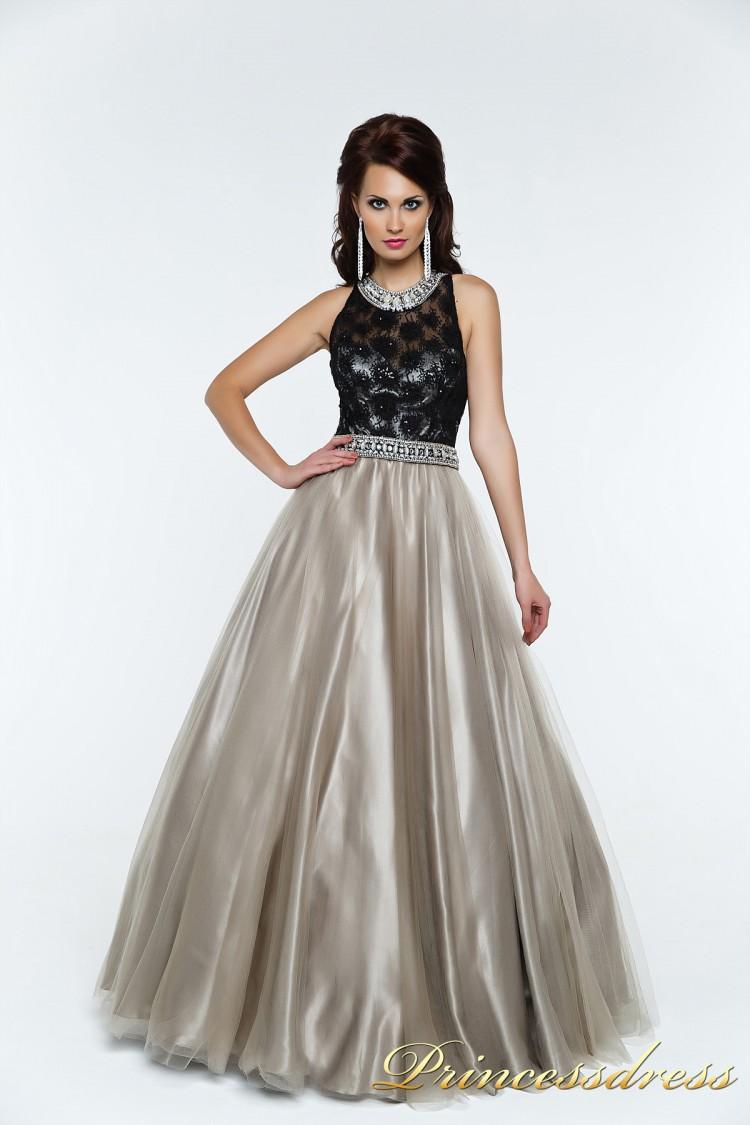Вечернее платье 140344P чёрного цвета